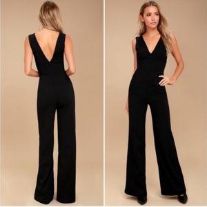 Lulus black ready for it wide leg jumpsuit